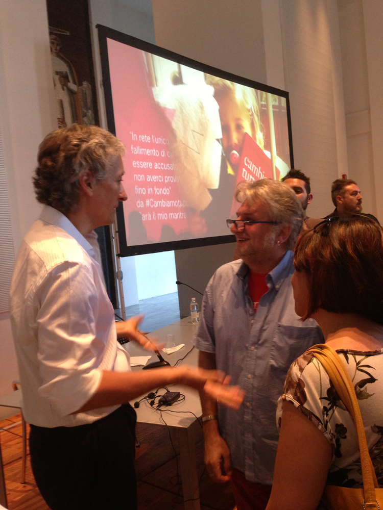 Riccardo Luna alla Triennale di Milano #cambiamotutto passa all'azione e diventa app con video