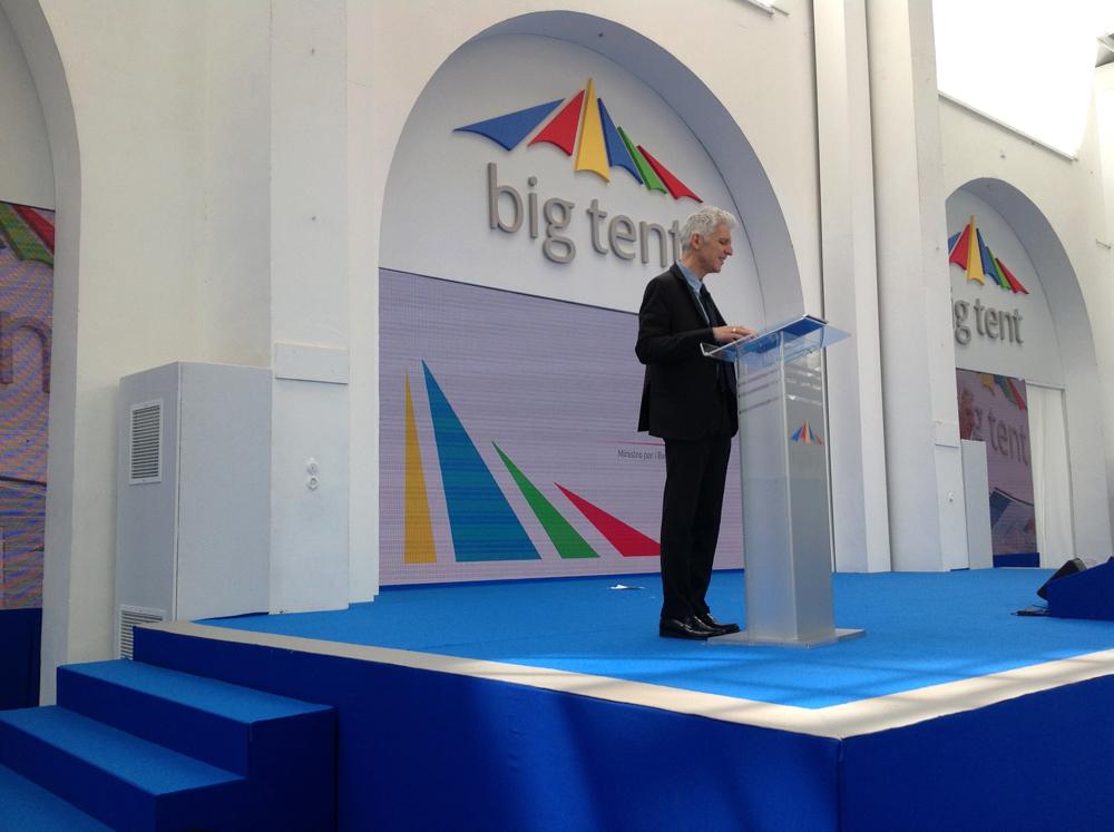 Al Big Tent di Google il ministro della Cultura Bray, a lui il compito di aprire l'appuntamento all'Aranciera di San Sisto